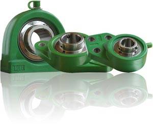 bearing units in synthetic material